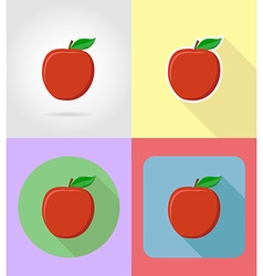 Fruits flat icons 02 vector