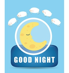 Good Night design vector
