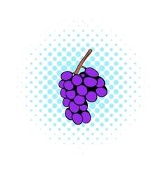 Grape branch icon comics style vector