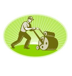 Groundsman grounds keeper vector