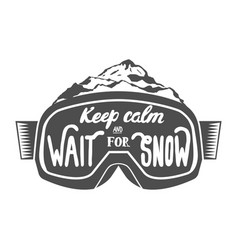 handdrawn vintage snowboarding quotes vector image