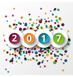 Happy new Year 2017 celebration vector