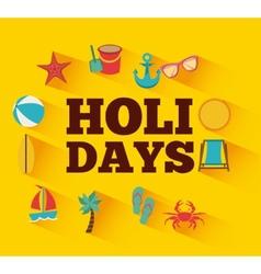 holidays summer vector image