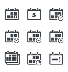 icon calendar with notes vector image