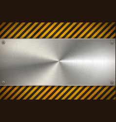 Industrial background with metal blank plate on vector