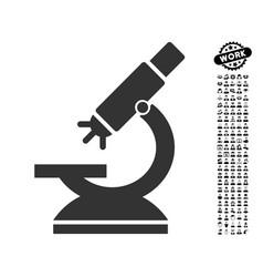 labs microscope icon with professional bonus vector image