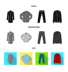 Man and clothing sign set vector