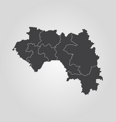 map guinea vector image