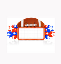 Marquee board announcement with american football vector