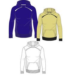 Mens hoodie template vector