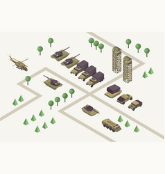 military camp isometric vector image