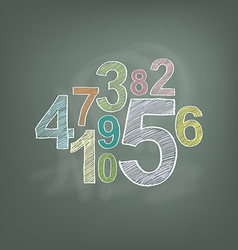 Number on chalkboard vector
