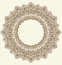 Ornamental round lace with damask vector