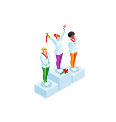podium clipart winter sports vector image