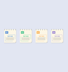 realistic lined sticky notes with clip binder vector image