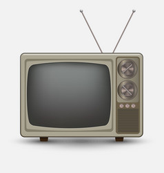 realistic old vintage tv vector image