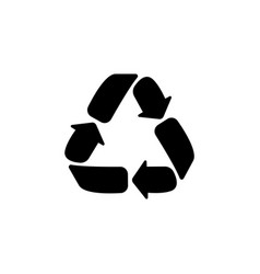 recycle sign isolated black vector image