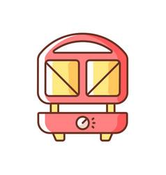 Sandwich press rgb color icon vector