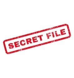 Secret File Rubber Stamp vector image