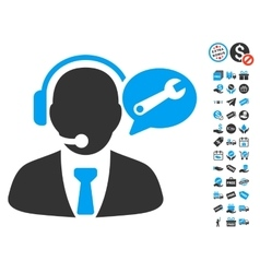Service Manager Message Icon With Free Bonus vector