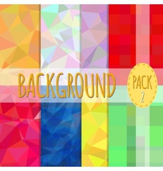Set of polygonal backgrounds 8 various vector image