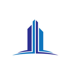skyscraper business finance logo vector image