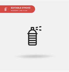 spray paint simple icon vector image
