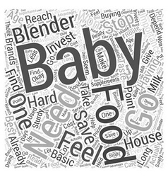 The Importance of Having Your Own Baby Food vector