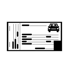 Ticket of parking zone vector