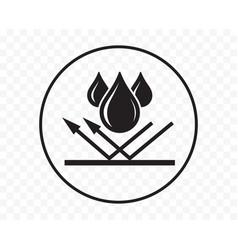 Waterproof icon water resistant logo drop vector