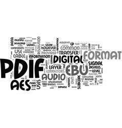 what is s pdif text word cloud concept vector image