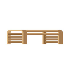 Wooden bench image seat for parks vector