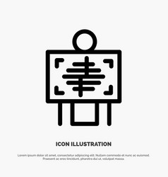 Xray patient hospital radiology line icon vector