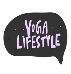 Yoga lifestyle sticker for social media content vector