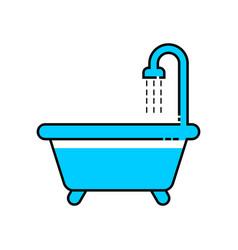 bath line icon vector image vector image