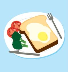 breakfast set vector image vector image