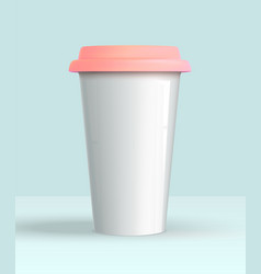 coffee cup white mockup vector image
