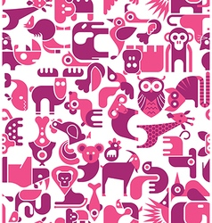 animal seamless background vector image