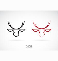 deer head design on white background symbol vector image