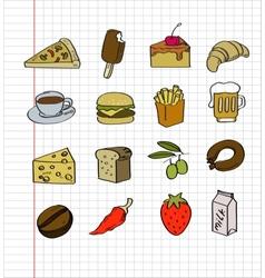 hand drawn food vector image vector image