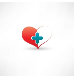 heart and medical cross vector image