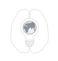 light bulb with a world globe vector image