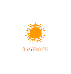 logo with sunlight vector image vector image