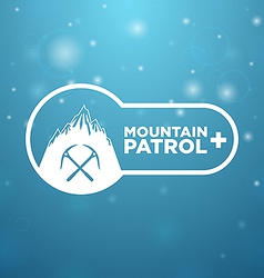 logotype mountain patrol vector image