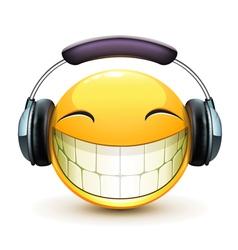 musical emoticon vector image vector image