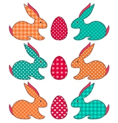 Set of application Easter rabbits vector image vector image