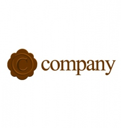 c logo for attorney company vector image