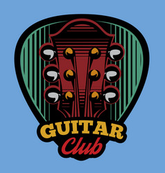 colored logo template ple trum and guitar vector image vector image