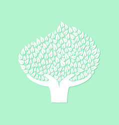 hand tree concept for nature care vector image