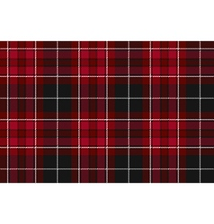 Pride of wales fabric textile red tartan seamless vector image